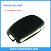 4 Button Flip Car remote key case cover for Hyundai