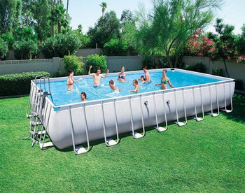 Giant Rectangular Above Ground Swimming Pools 56479 Garden Family Party  Adult Stent Frame Pool - Buy Giant Above Ground Swimming Pools,Family  Swimming ...
