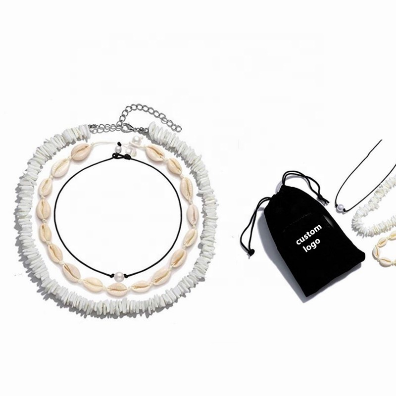 Shell Necklaces Jewelry Type and Charm Necklaces White Puka Shell Choker Necklaces фото