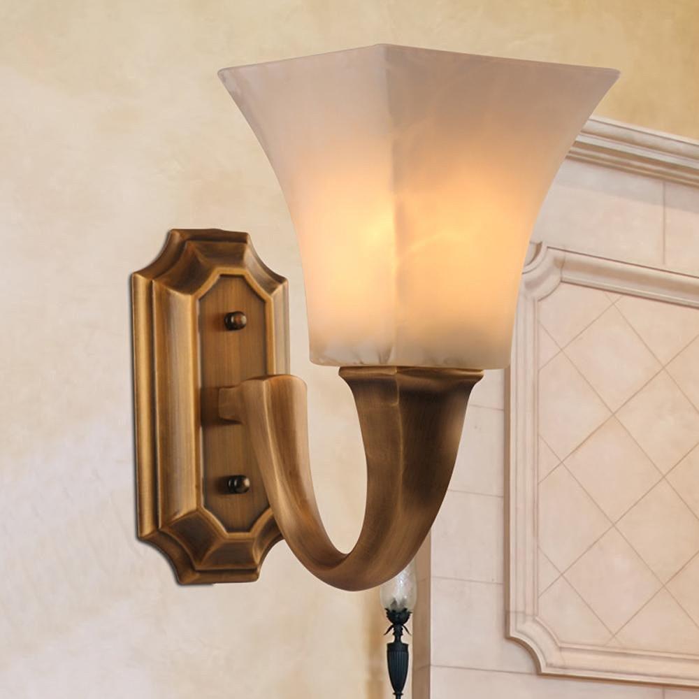 UZI-European copper lamps, bedside lamps, wall lamps, porch bedroom living room hallway lights, copper Wall lamp