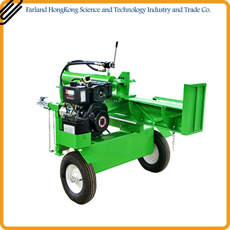 Top Standard 26l Blue Manual Used Diesel Log Splitter From