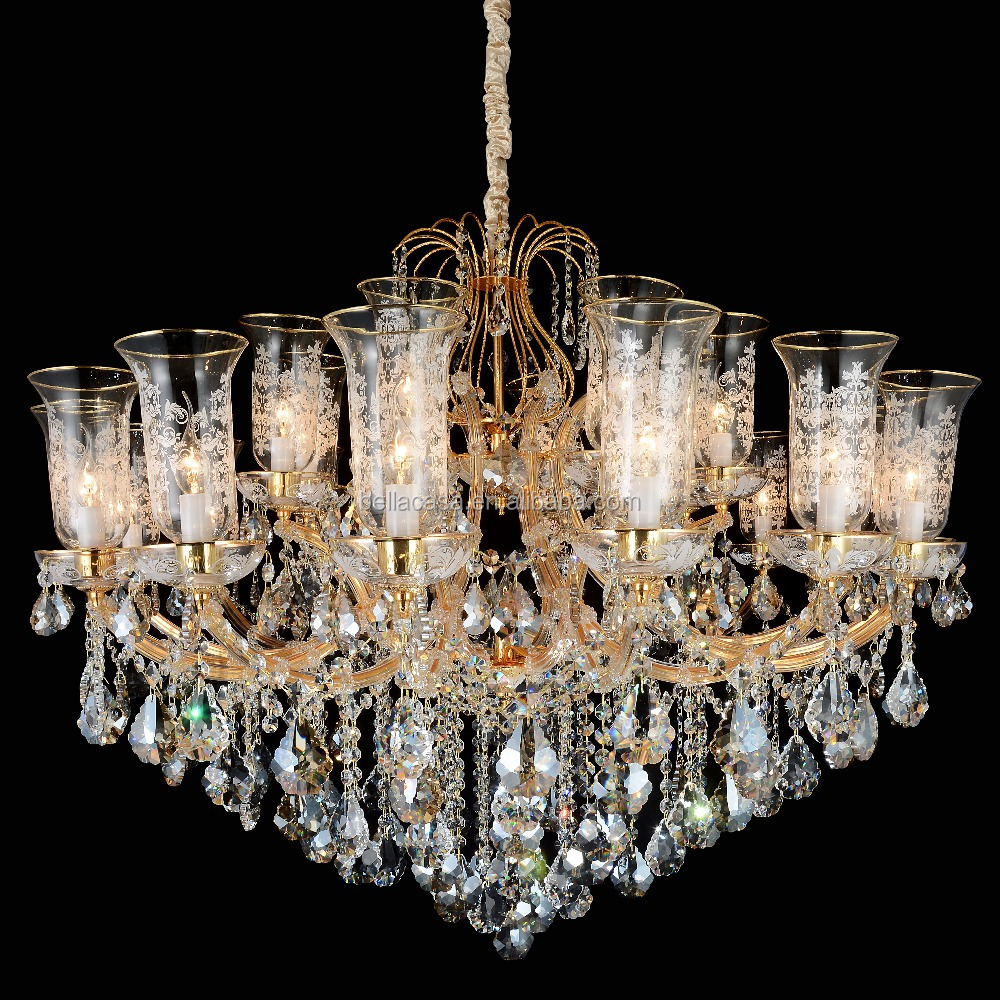 Crystal Chandeliers 24k Gold Plated Crystal Chandeliers 24k Gold – Chandelier Floor Lamp Closeout