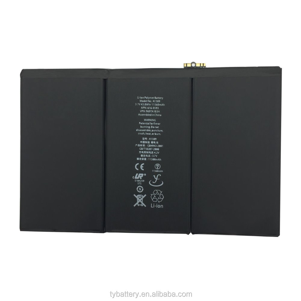 Replacement internal battery for iPad 3//4//A1389 3rd//4th Generation,11500 mah