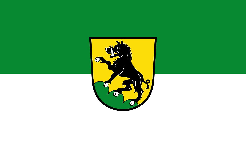 magFlags Large Flag Ebersberg, St   landscape flag   1.35qm   14.5sqft   90x150cm   3x5ft -- 100% Made in Germany -- long lasting outdoor flag