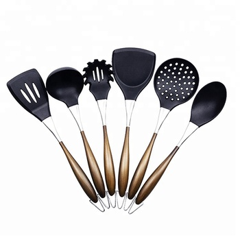 Premium Kitchen Utensil Set With Bronze Wire Drawing Handle Sw-ct204 - Buy  Silicone Cooking Utensil Sets,Kitchen Utensil,Silicone Kitchen Utensils ...