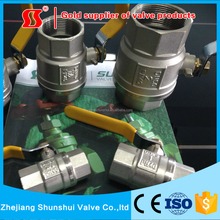 SS20401 101 Brass ball valve long handles brass ball valve nickel plating heavy duty model