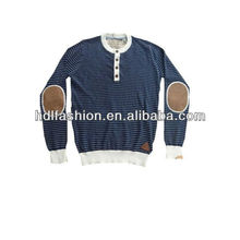 Latest fine knitted stripe sweater for men