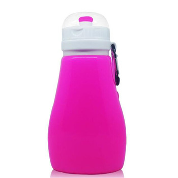2017 new design BPA Free Collapsible Silicone Folding Water Bottle