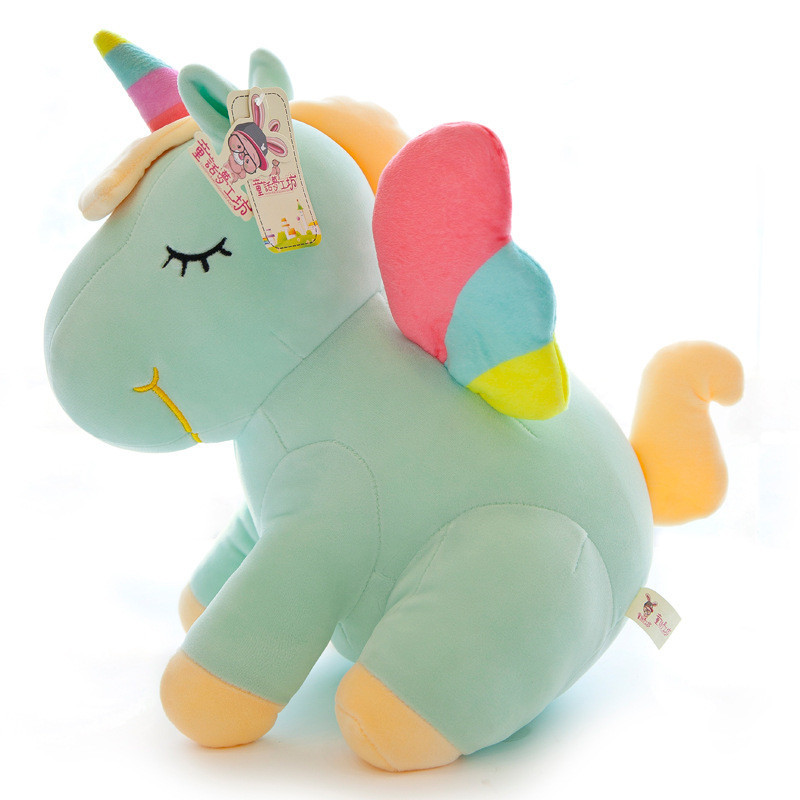 Wholesale New Design Rainbow Angel Unicorn Large Plush Stuffed Toys Pillow Animal Pony Doll Toy