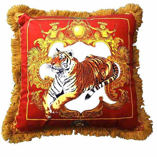 20'/27' Tiger Pattern Top quality imperial sofa cushion luxury home decorative soft pillow