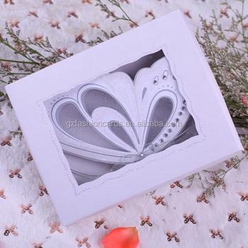 2015 Hot Sale Royal Butterfly Scroll Wedding Invitation Card