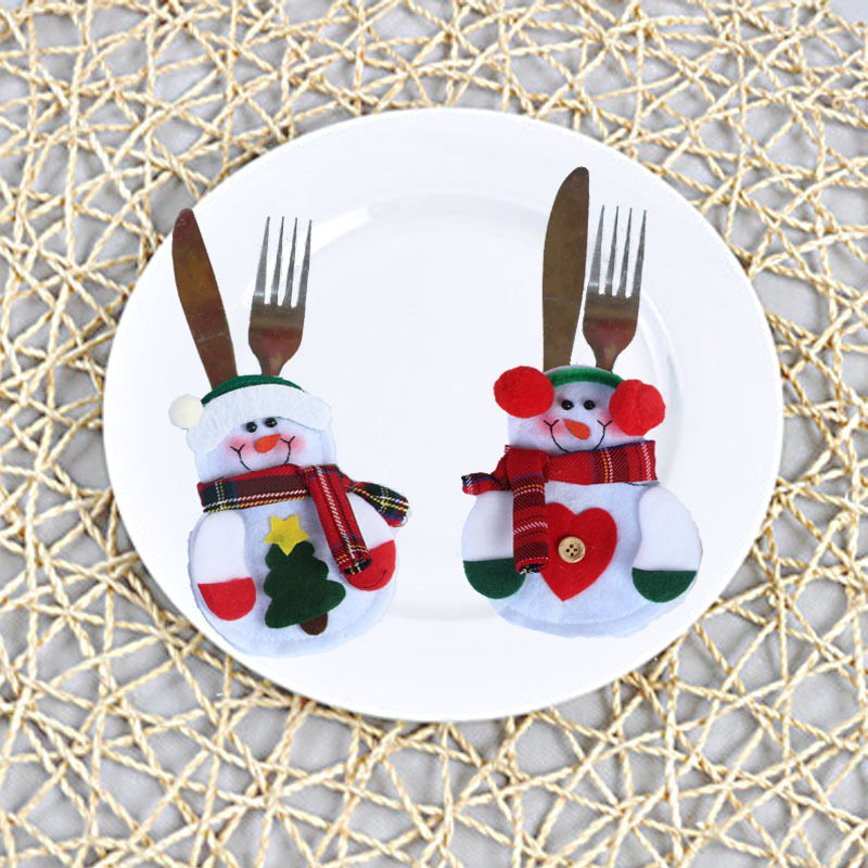 Wholesale Fashion Christmas Banquet Table Decorations With Knife And Fork Bag