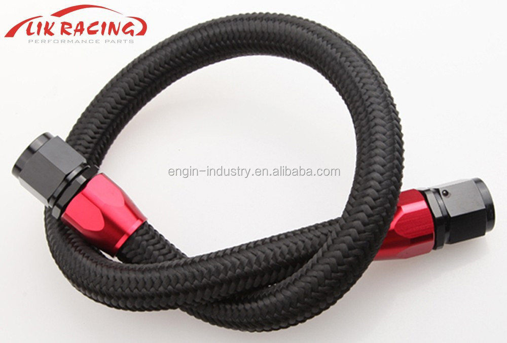 AN -8 AN8 AN8 Stainless Nylon Braided Fuel Line Oil Gas Hose