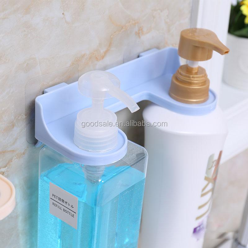Plastic Bathroom Set Double Body Wash Bottle Holder Shampoo Bottle ...