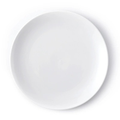 White Round Ceramic Dinner Dishes Flat <strong>Plate</strong>