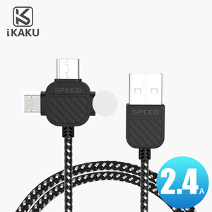 100cm 24 pin black nylon braided 3 in 1multile usb data cable