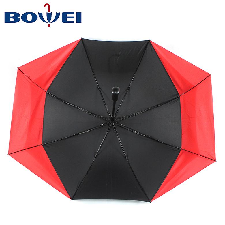 2020 Creative new design automatic golf umbrella with logo prints