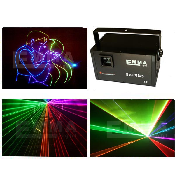 Projects 3 watts RGB Outdoor Stage Show Laser Lighting Equipment