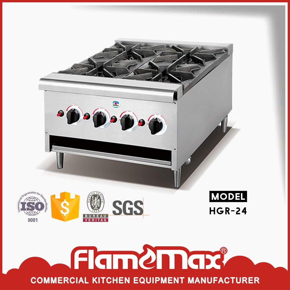 hotel commercial big four burners heavy duty gas stove