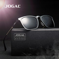 JOGAL New Style Design Man Aluminum Magnesium Square Frame Sunglasses Eyewear Accessories Sun Ray Procting Male