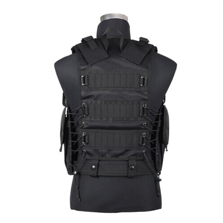 Military Bulletproof Black Tactical Vest Armor