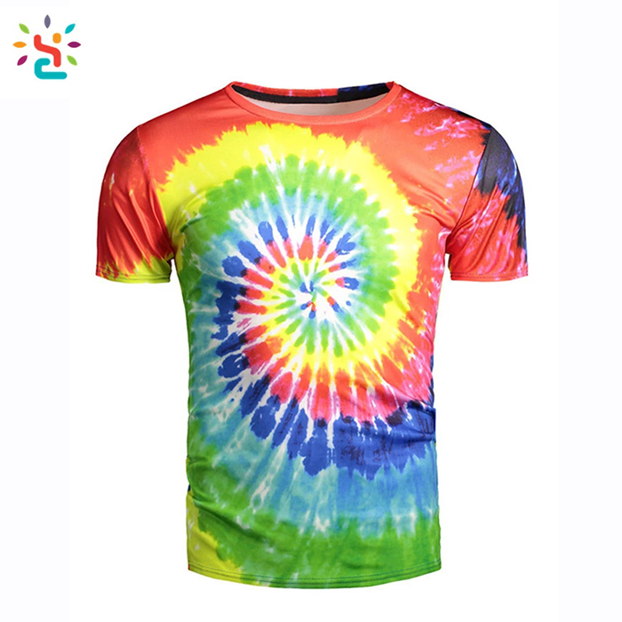 79e3b195 High quality Tie Dye Tshirt Colored Gradual Hip Hop Streetwear Tie Dye made  in india Tee shirt Stock