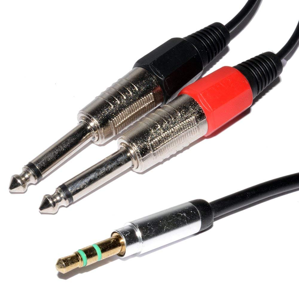 Get Quotations · 3.5mm Stereo Jack Plug to Twin 6.35mm 1/4 inch MONO Plugs  Low
