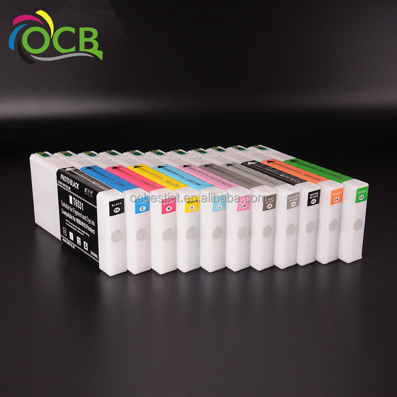 Ocbestjet T6531 T6551 Ink Catridges untuk Epson 4900 4910 Kompatibel Cartridge Printer