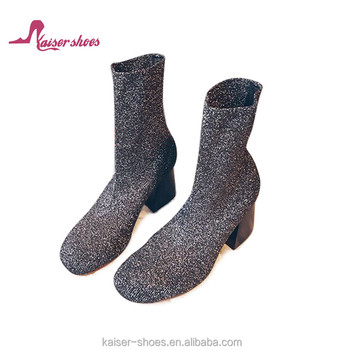 KASali-039 2017women socks boots high fashion shows Top selling angkle boots