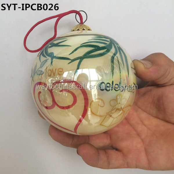 personalised christmas glass ball ornaments