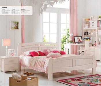 High Quality Solid Wood Bed Desk Wardrobe Girls Room Furniture ...