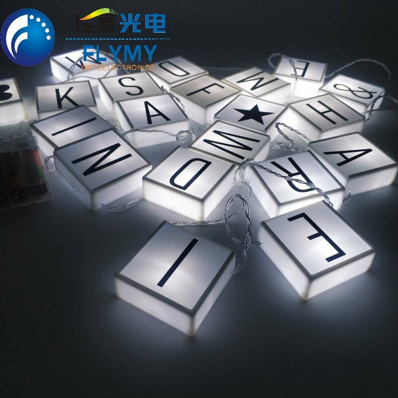 Happy birthday battery operated led letter light box for party wedding Christmas home decoration