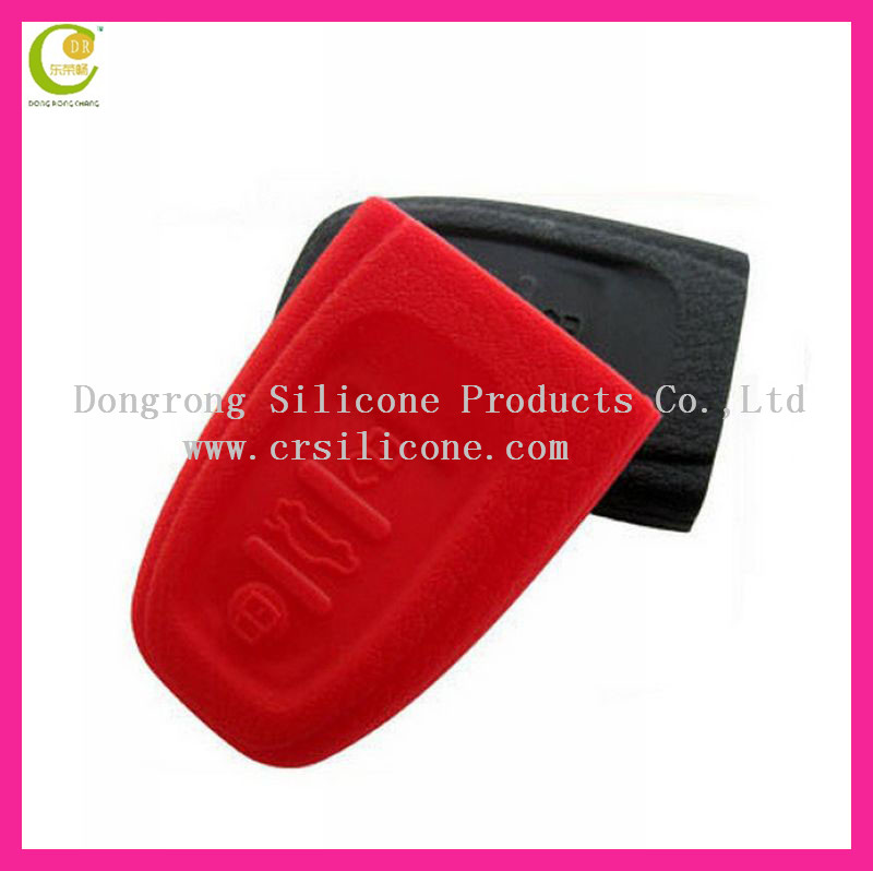 Folding type with competitive price silicone key casing silicone car key cover for audi r8 key shell,durable and shockproof