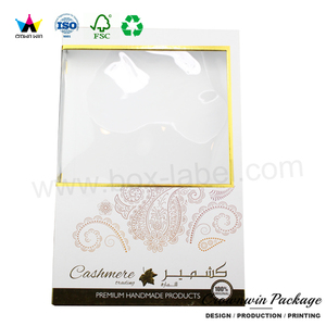 customized scarf cardboard package gift box with window