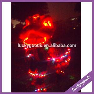 LWL008 wholesale battery control LED red lion dancing costume