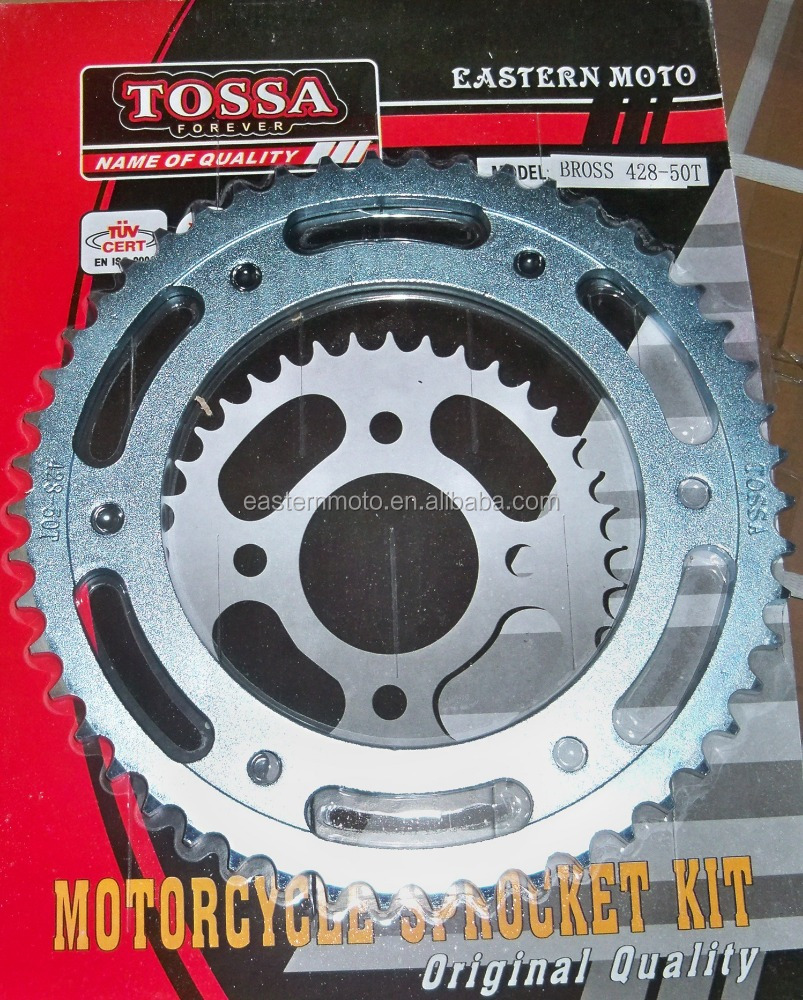 BROSS 50T rear sprocket/Brazil motorcycle sprocket bross 50T/motorcycle transmission chain and sprocket kit