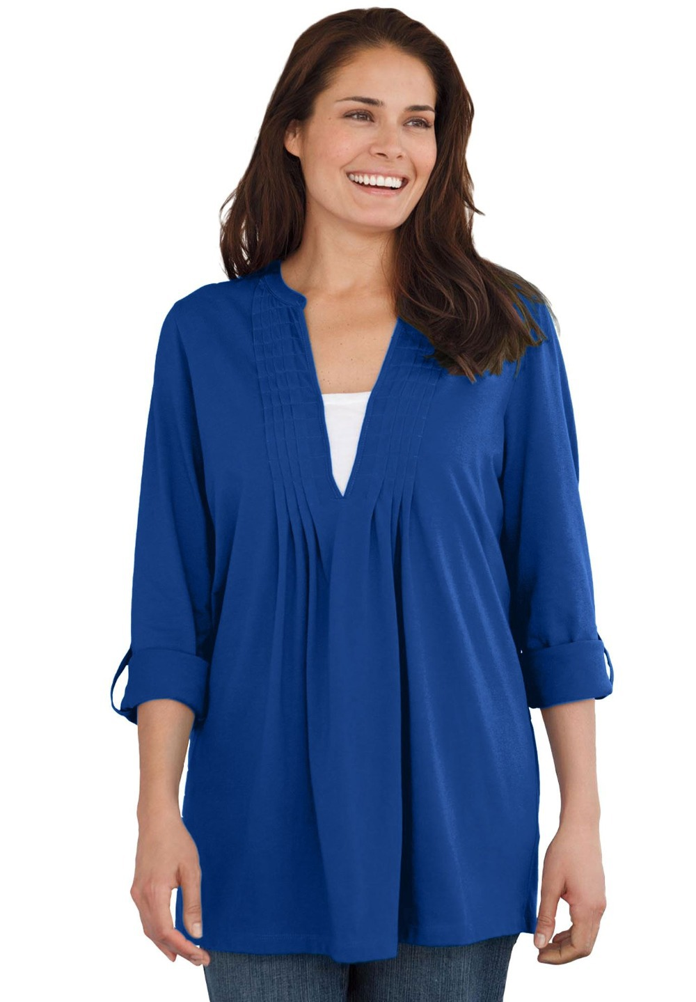 5Color L 10XL Large Size Women Box stitched Tunic Tee ...