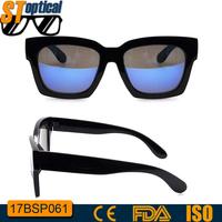 fashionable designer black blue mirror gentle monster sunglasses