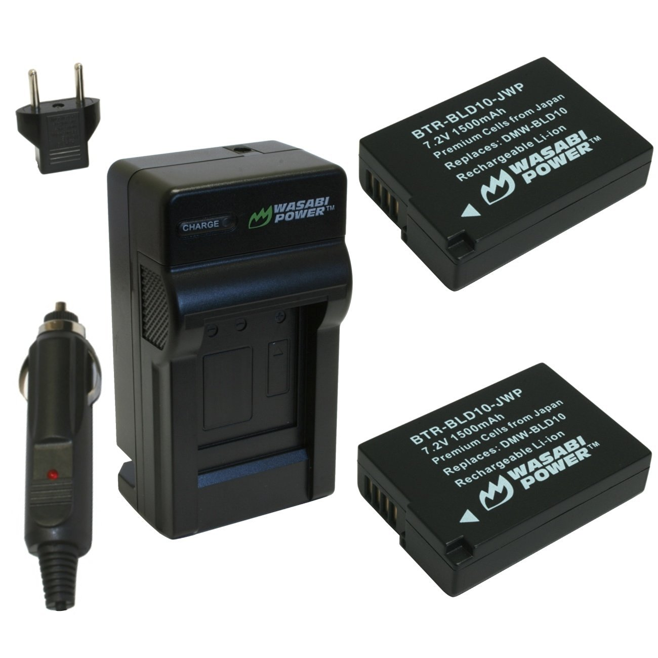 Watson Compact AC//DC Charger Kit with Battery Adapter Plate for DMW-BLD10