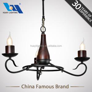 Vintage American Industrial MOQ 50PCS Iron wood sale chandeliers