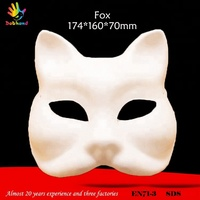 Pure paper pulp animal fox modling child mask