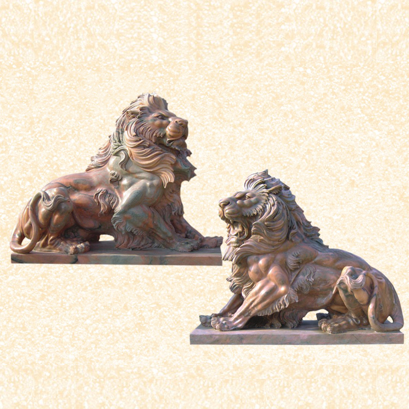 Outdoor Evening Pink Life Size Marble Lion Garden Statues For Statue Product On Alibaba