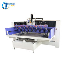 <span class=keywords><strong>6</strong></span> spindel hoofd cnc router 2513 cnc <span class=keywords><strong>snijmachines</strong></span> tafel moving