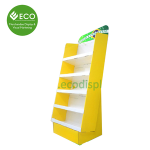 Attractive Cardboard Corrugated Floor Scarf Display Stand, POP Up Display