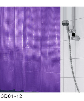 Bathroom Accessories Red EVA Plastic Waterproof 3D Shower Curtain,chinese  Designer Curtains