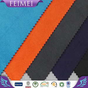 350GSM Polyester Spandex Suede Fabric Microfiber brushed suede Knitted weave fabric for sofa or coat fabric