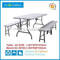Work suitcase 6ft outdoor folding dining table and chair set