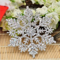 Crystal Silver Glitter Snowflake for Outdoor Christmas Decorations