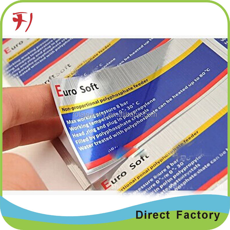 Aluminium metallic foil China Factory Printing Adheisve Vial Labels, 10ml Vial Bottle Label Sticker