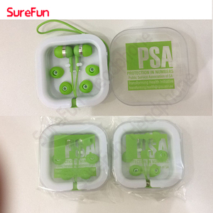 plastic case packing Cheap customized logo promotion earphone &earbud free sample